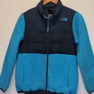 The North Face blue boy's hoodie size 14/16